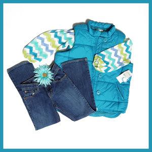 Ladie Lux Studio Works Blue Vest NWT
